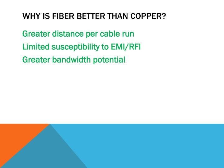 Why is fiber better than copper?