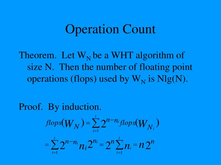 Operation Count