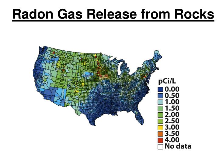 Radon Gas Release from Rocks