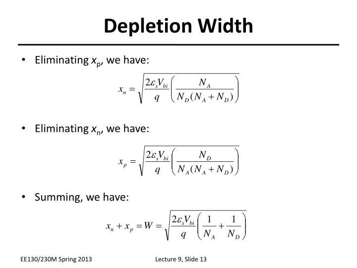Depletion Width