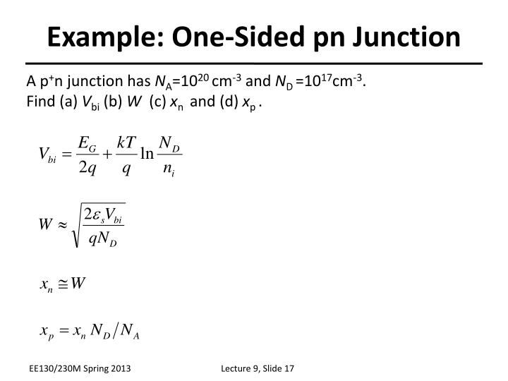 Example: One-Sided pn Junction