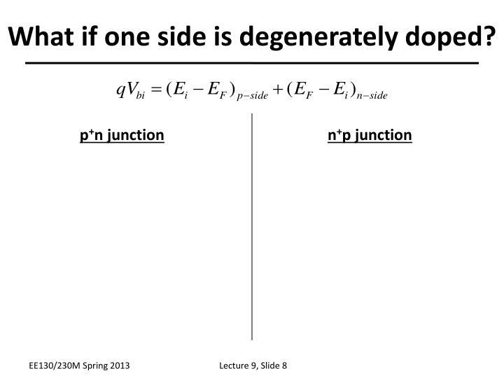 What if one side is degenerately doped?