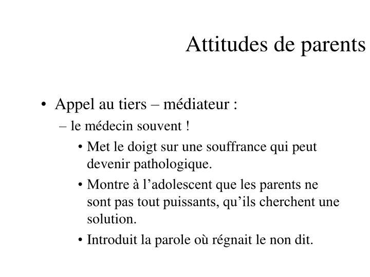 Attitudes de parents