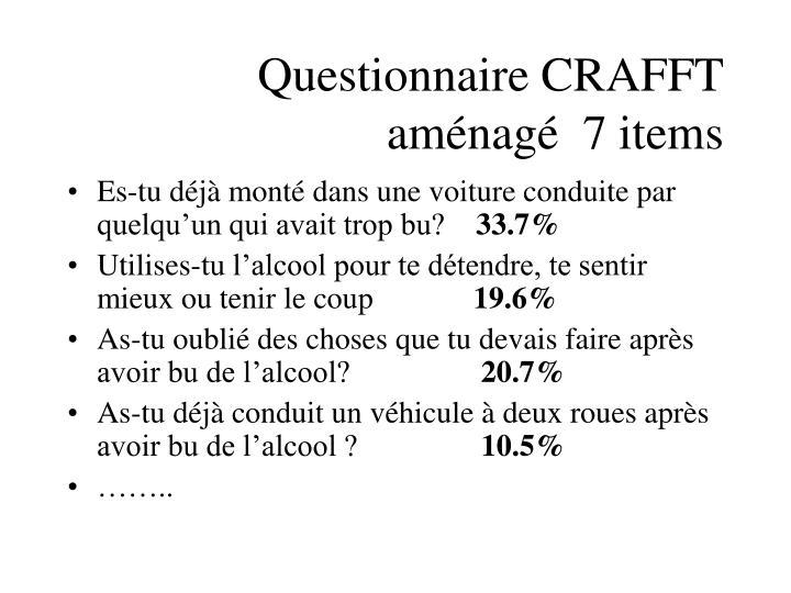 Questionnaire CRAFFT