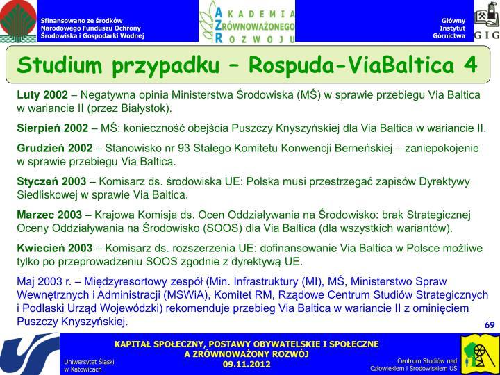 Studium przypadku – Rospuda-ViaBaltica 4