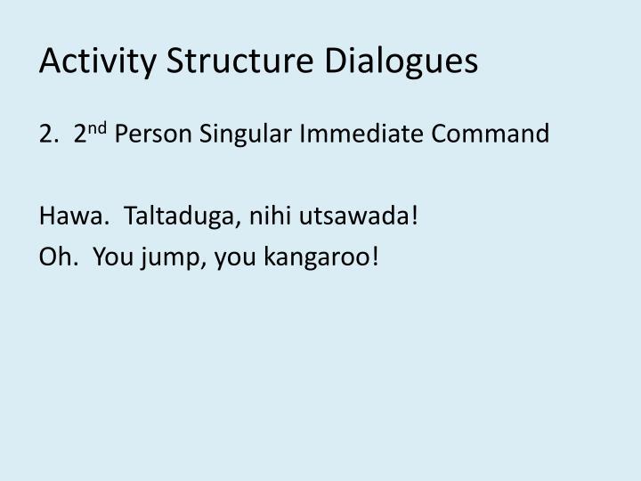 Activity Structure Dialogues