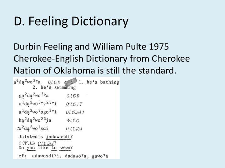 D. Feeling Dictionary