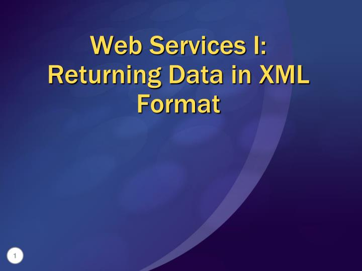web services i returning data in xml format
