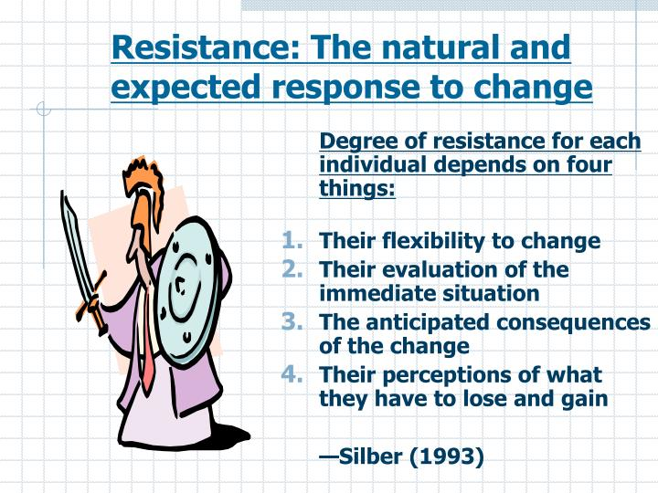 Resistance: The natural and expected response to change