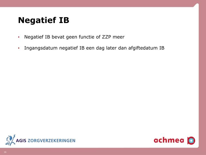 Negatief IB