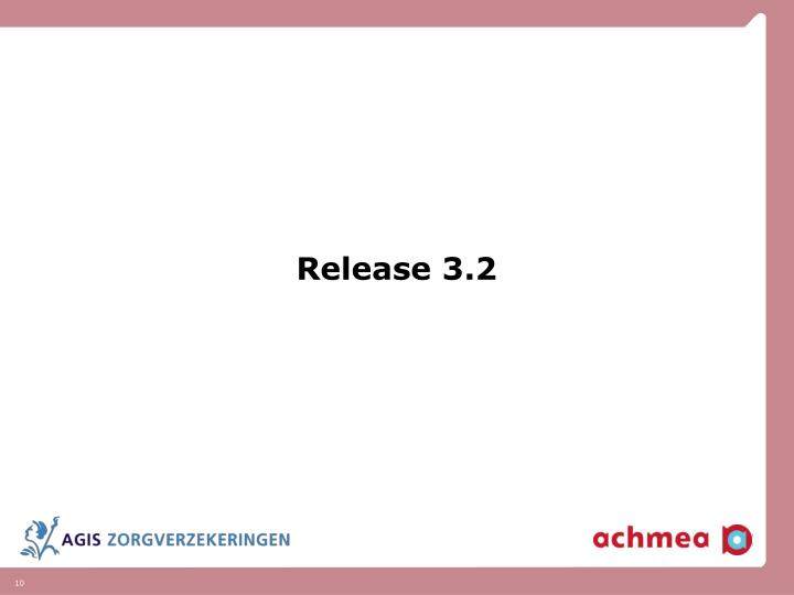 Release 3.2
