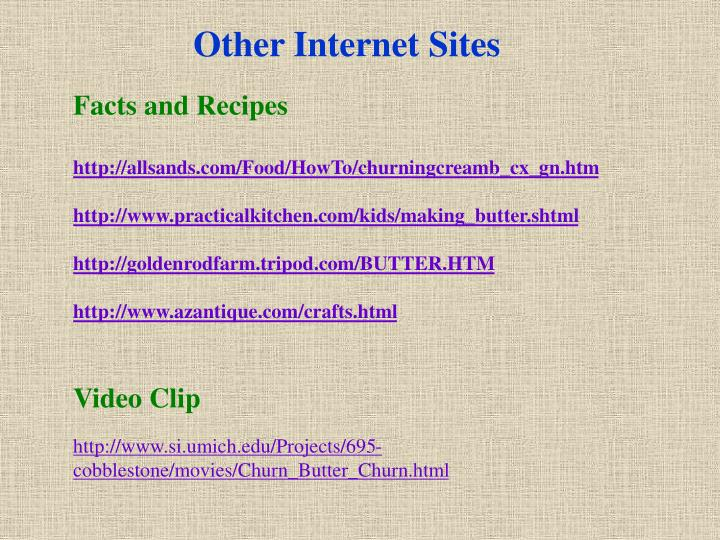 Other Internet Sites