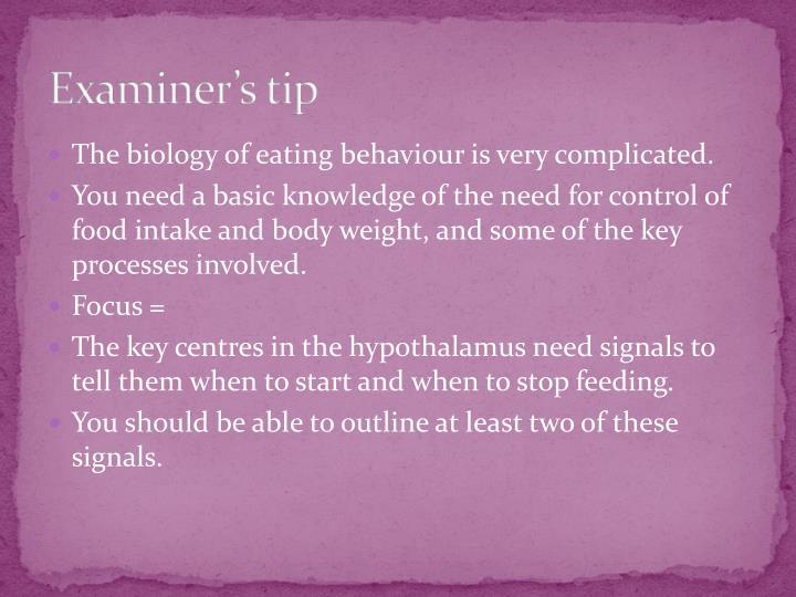 Examiner's tip