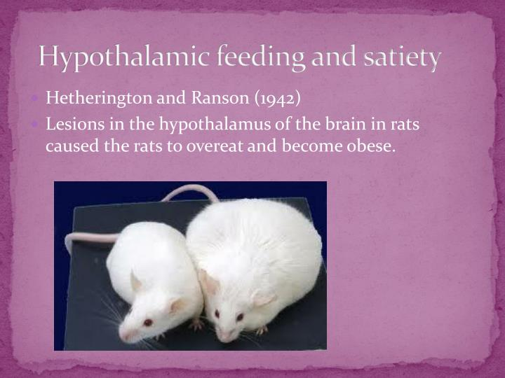 Hypothalamic feeding and satiety