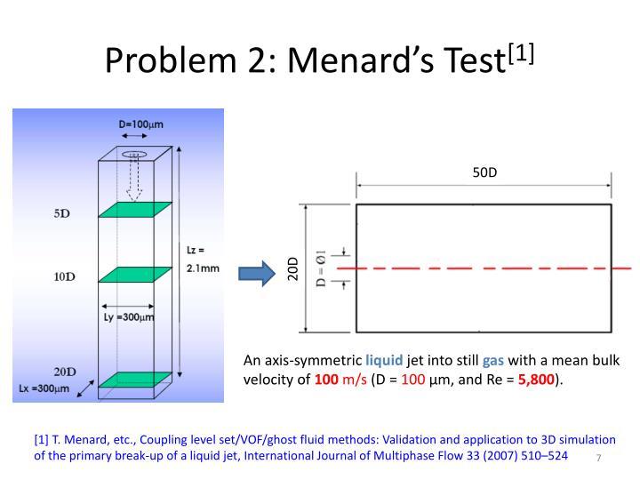 Problem 2: Menard's Test