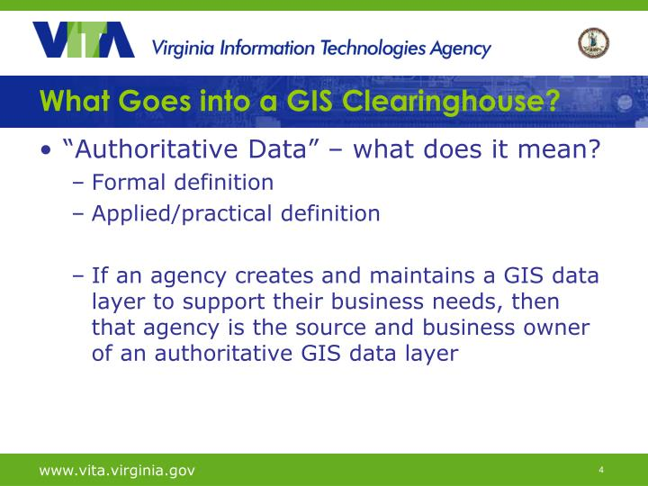 What Goes into a GIS Clearinghouse?