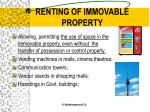 renting of immovable property2
