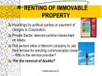 renting of immovable property3