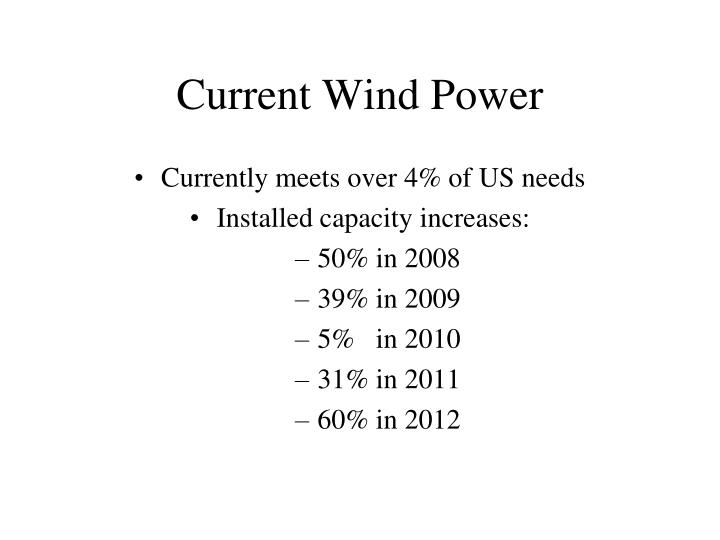 Current Wind Power