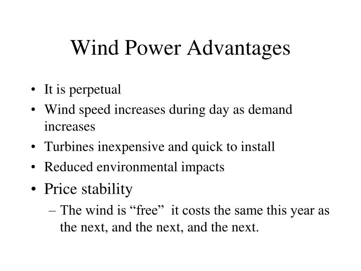 Wind Power Advantages