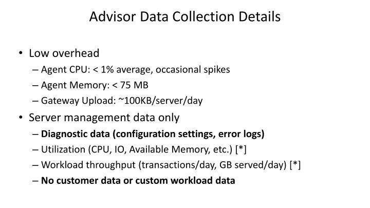 Advisor Data Collection Details