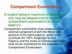 compartment examination