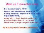 make up examination rules