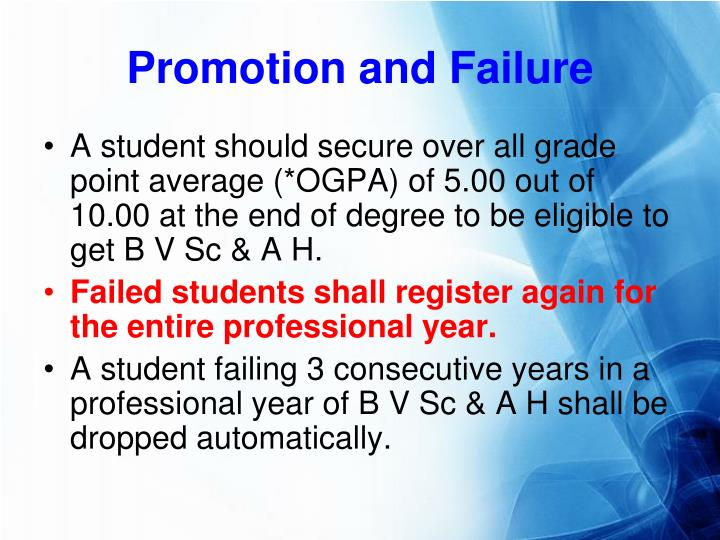 Promotion and Failure