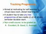 tracking programme