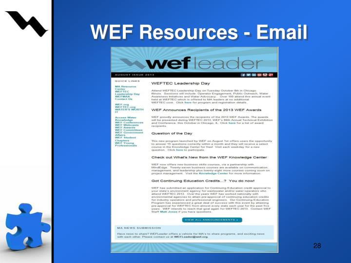 WEF Resources - Email