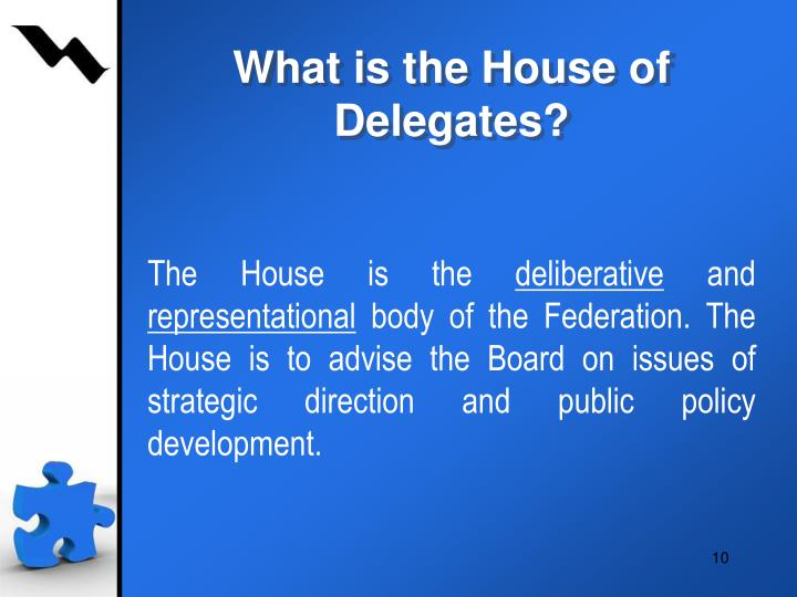 What is the House of Delegates?