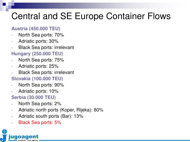 Central and SE Europe Container Flows