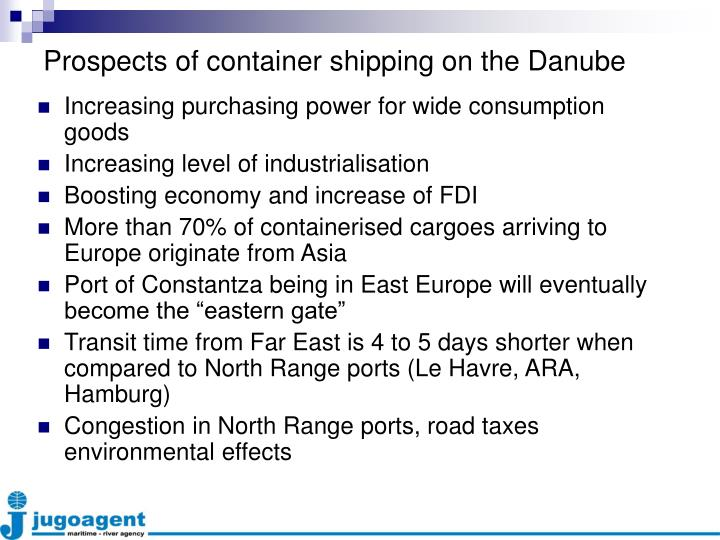 Prospects of container shipping on the Danube