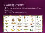 1 writing systems