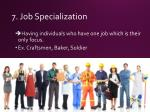 7 job specialization