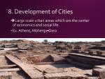 8 development of cities