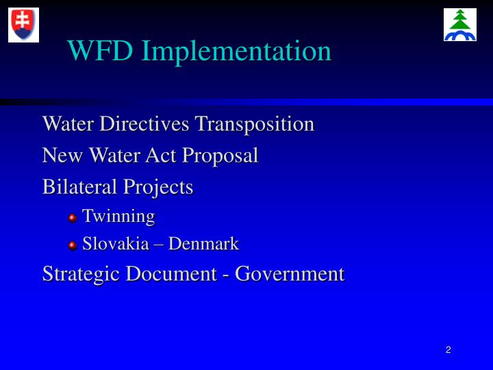 Wfd implementation