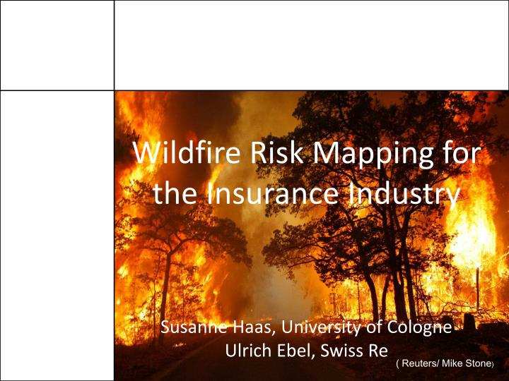 Wildfire Risk Mapping for the Insurance Industry