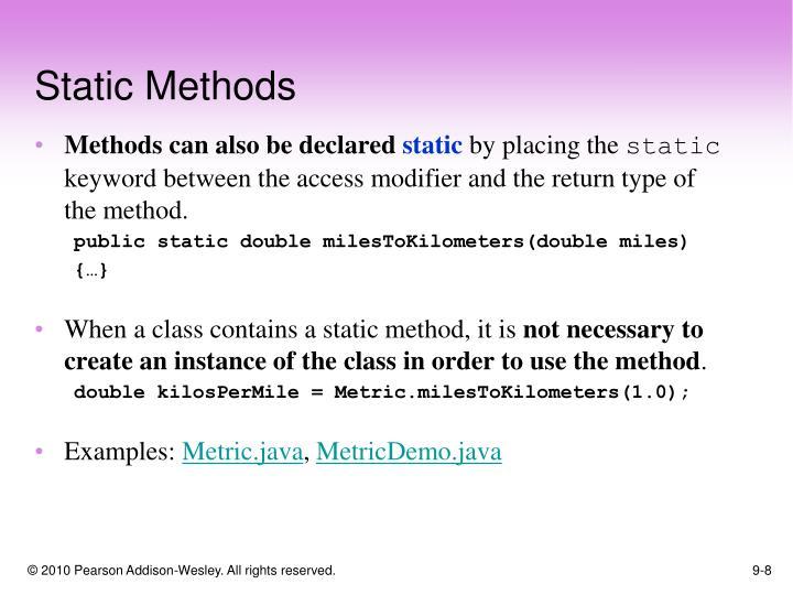 Static Methods