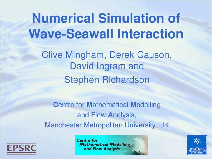 numerical simulation of wave seawall interaction