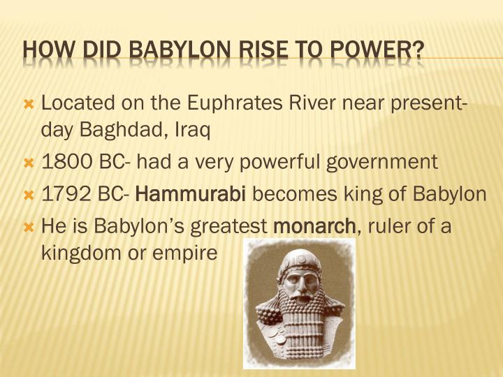 Located on the Euphrates River near present-day Baghdad, Iraq