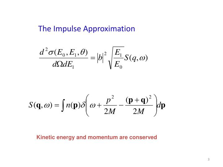 The Impulse Approximation