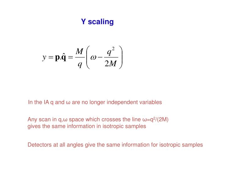 Y scaling