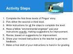 activity steps
