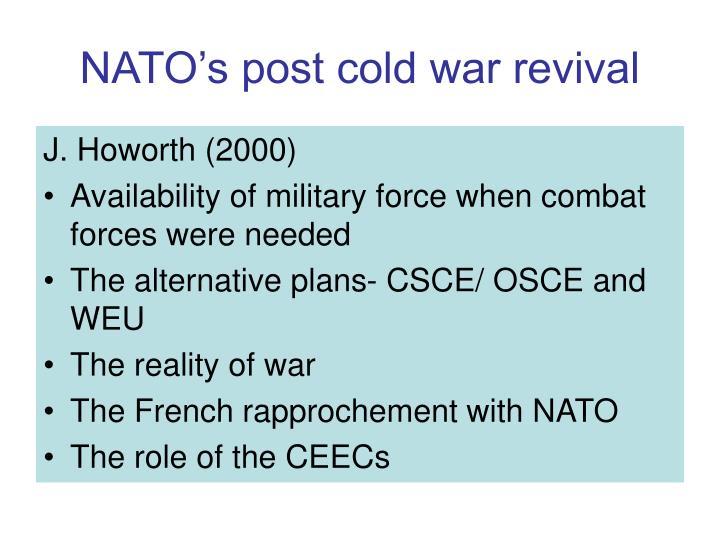 NATO's post cold war revival