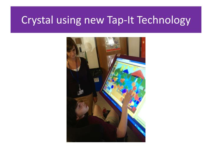 Crystal using new Tap-It Technology
