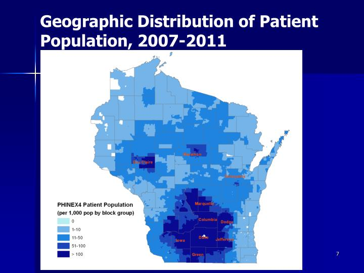 Geographic Distribution of Patient Population, 2007-2011