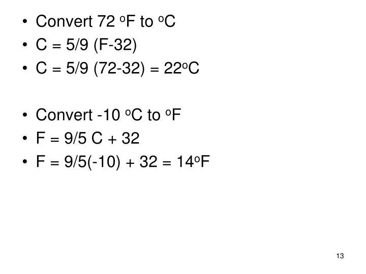 Convert 72