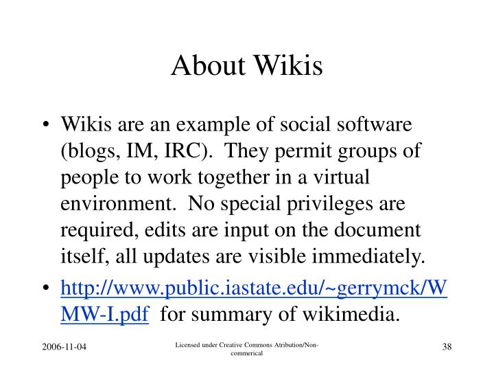 About Wikis