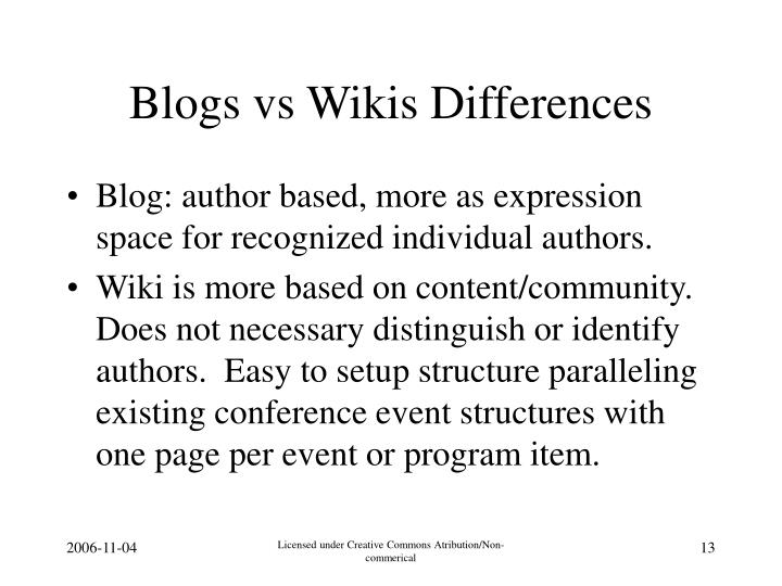 Blogs vs Wikis Differences